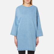 Waven Women's Bea Longline Top with Side Splits - Allie Blue