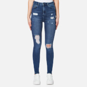 Waven Women's Anika High Rise Skinny Jeans - Brand Blue
