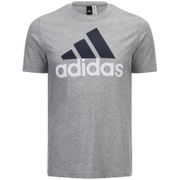 adidas Men's Essential Big Logo T-Shirt - Grey Marl