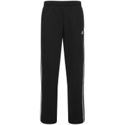 adidas Men's Essential 3 Stripe Fleece Sweatpants - Black