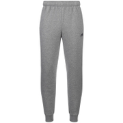 adidas Men's Essential Logo Cuffed Fleece Sweatpants - Grey