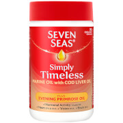 Seven Seas SimplyTimeless Cod Liver Oil Plus Evening Primrose Oil - 90 Capsules