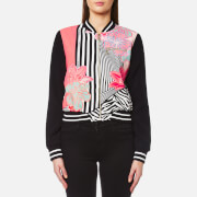 Versace Jeans Women's Printed Bomber Jacket - Shock Pink
