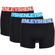 Henleys Men's 3 Pack Nevo Boxers - Black