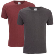 Lot de 2 T-Shirts Hommes Purlin Smith & Jones - Charbon/Bordeaux