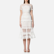 Foxiedox Women's Desdemona Midi Dress - White