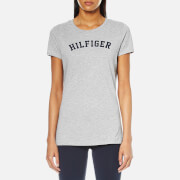 Tommy Hilfiger Women's Short Sleeve Print T-Shirt - Grey Heather