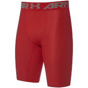 Under Armour Men's HeatGear Armour Long Compression Shorts - Red