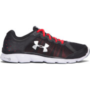 Under Armour Men's Micro G Assert 6 Running Shoes - Black/Pomegranate