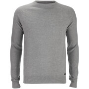 Threadbare Men's Turner Stripe Knit Jumper - Light Grey Marl