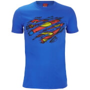 T-Shirt Homme DC Comics Logo Superman Torn - Bleu Roi