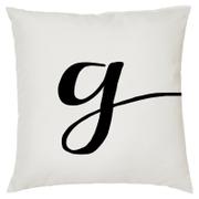 Alphabet Script Cushion - Letter G (45x45cm)