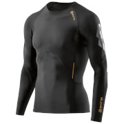Skins A400 Men's Compression Long Sleeve Top - Oblique