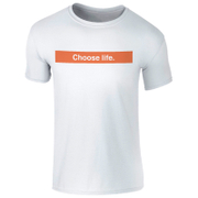 Men's Choose Life Orange Logo T-Shirt - White
