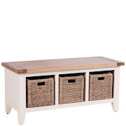 Vancouver Expressions Linen Storage Bench with 3 Basket Drawers