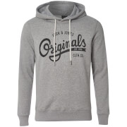 Jack & Jones Men's Originals Hawl Logo Hoody - Light Grey Melange