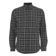 Jack & Jones Men's Originals Larson Long Sleeve Check Shirt - Dark Grey Melange