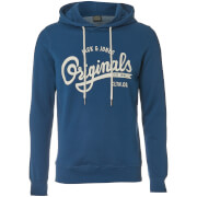 Jack & Jones Men's Originals Hawl Logo Hoody - Ensign Blue