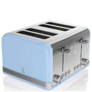 Swan ST19020BLN 4 Slice Retro Toaster - Blue