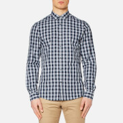 Michael Kors Men's Slim Landan Check Shirt - Navy