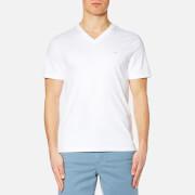 Michael Kors Men's Sleek Mk V Neck T-Shirt - White