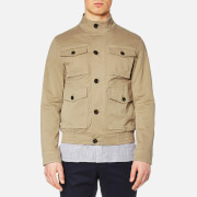 Michael Kors Men's Garment Dyed 4 Pocket Bomber Jacket - Khaki