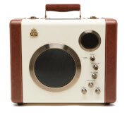 GPO Retro Manga Bluetooth Speaker and Guitar Amp - Cream/Tan