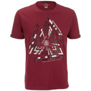 Smith & Jones Men's Imafonte Triangle T-Shirt - Cordovan Red