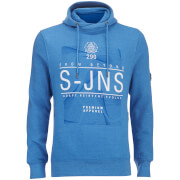 Smith & Jones Men's Electronite Cross Neck Hoody - Classic Blue Marl