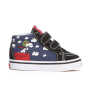 Vans X Peanuts Toddlers' Sk8 Mid Reissue Velcro Trainers - Flying Ace/Dress Blues