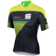 Sportful Gruppetto Pro LTD Short Sleeve Jersey - Black/Yellow/Green