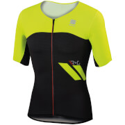 Sportful R&D Cima Short Sleeve Jersey - Black/Yellow