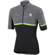Sportful Giara Short Sleeve Jersey - Grey/Black/Green