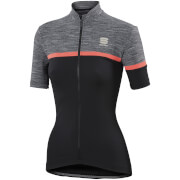 Sportful Women's Giara Short Sleeve Jersey - Black/Grey/Pink