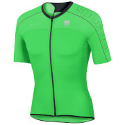Sportful BodyFit Ultra Light Short Sleeve Jersey - Green/Black