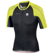 Sportful BodyFit SpeedSkin Short Sleeve Jersey - Black/Yellow