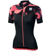 Sportful Women's Primavera Short Sleeve Jersey - Black/Pink