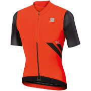 Sportful R&D Ultraskin Short Sleeve Jersey - Red/Black