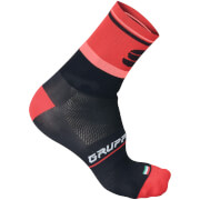 Sportful Gruppetto Pro 12 Socks - Black/Red/Pink
