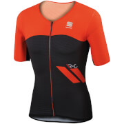 Sportful R&D Cima Short Sleeve Jersey - Black/Red