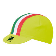 Sportful Italia Cap - Yellow/Tricolore