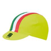 Sportful Italia Cap - Yellow/Tricolore