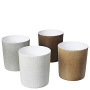 Broste Copenhagen Orcide Porcelain Flowerpots - Set of 4