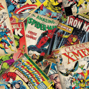 Marvel Comic Cover Story Retro Wallpaper