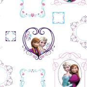 Disney Frozen Elsa & Anna Frames Wallpaper