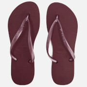 Havaianas Women's Slim Flip Flops - Grape Wine