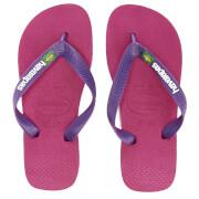 Havaianas Kids' Brasil Logo Flip Flops - Raspberry Rose/New Purple