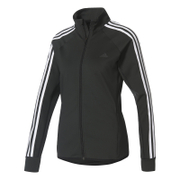 adidas Women's D2M 3 Stripe Track Top - Black
