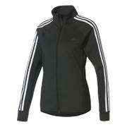 adidas Women's D2M 3 Stripe Track Top - Black