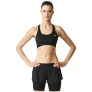 adidas Women's TechFit Medium Support Sports Bra - Black/Matte Silver